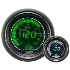 Prosport 52mm EVO Car Oil Temperature Gauge Green and White LCD Digital Display