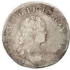 Monnaies, France, Louis XV, 1/10 Écu Vertugadin, 1716,Lille,B+,Argent,KM #16705