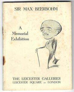 1957 Max Beerbohm art exhibition catalogue Leicester Galleries London