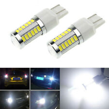 2X 6000K White T20 W21W 7443 7440 5630 33SMD LED Dome Map Car Reverse Lights b