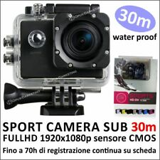 PRO CAM 12MP SPORT ACTION CAMERA SD 32GB VIDEOCAMERA SUBACQUEA FULL HD 1080p