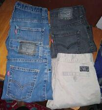 4 Pairs    Boys  Levis  &  Vans   Jeans    Size  12