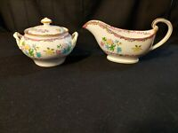 ANTIQUE MINTONS CHINA ENGLAND B925 SUGAR & CREAMER/GRAVY BOAT