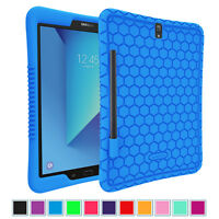 For Samsung Galaxy Tab S3 9.7 2017 Silicone Case Shock Proof with S Pen Holder