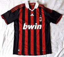 AC Milan 2009 - 2010 home football shirt soccer jersey, Adidas, size M