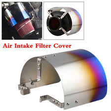 "1Pcs Blue 2.5"" to 5.5"" Stainless Steel Car Air Intake Filter Heat Shield Cover"