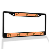 Metal License Plate Frame Vinyl Insert Weimaraner Dog B