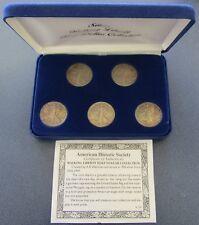 American Historic Society Silver Walking Liberty Half Dollar Collection COA - #1