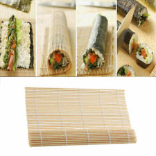 DIY Maker Japanese Sushi Rice Roll Bamboo Rolling Mat Cooking Essential Tool AU