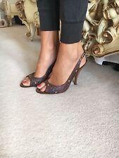 Gina Slingback Shoes Swarovski Crystal Size 7