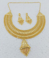 Ethnic Indian 1Gm Gold Plated Fashion Jewelry Wedding Necklace Earrings set a9