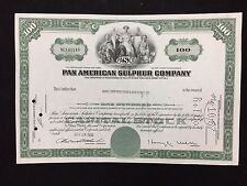 PAN AMERICAN SULPHUR CO-100 SHARES STOCK CERTIFICATE-1966 MERRILL LYNCH PIERCE