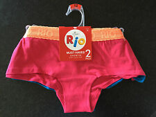 Ladies Sz 12 Soft Stretch Pack of 2 Rio BRAND Shortie Boy Leg Style Briefs