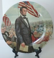 """Vintage Abraham Lincoln Collectors Plate """" The Gettysburg Address"""" Knowles 1986"""