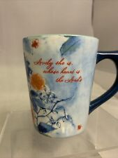 Dayspring Christian Coffee Mug Lovely She is Whose Hear is the Lords Peacock