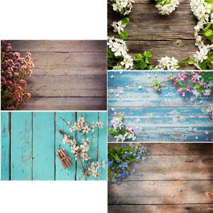 Flower Wood Floor Photography Wedding Backdrop Studio Photo Background Props