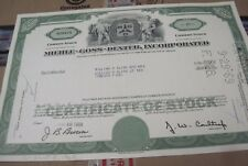 1968 Mehle-Goss-Dexter Inc. OLD CANCELED STOCK  CERTIFICATE  1967