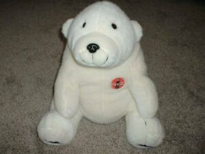 Coca Cola Plush Polar Bear Toy Vintage 1993 Off White Stuffed Animal Collectible