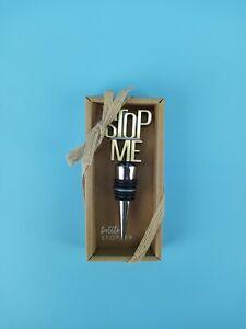 """New Grasslands Road GR Wine Bottle Stopper """" Stop Me """""""