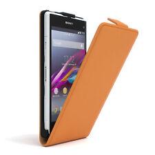 Bolso para Sony Xperia z1 Compact flip case protectora, funda, estuche, Orange