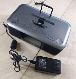 iHOME iDL100 Dual Charging Station Clock Radio Alarm with Lightning Connector