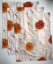 3 Orange Floral Daisy Standard Pillow Shams Bright Target? Isaac? 19x26 White