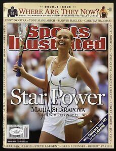Maria Sharapova Signed Sports Illustrated 7/12/04 No Label Tennis Open Auto JSA