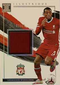 2020/21 Panini Impeccable - Georginio Wijnaldum Silver Card - Liverpool #03/25