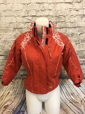 SPYDER RED POLYESTER KID'S GIRL HOODED ZIP POCKET PUFFER JACKET SIZE 7