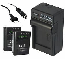 2x Patona Premium Akku 1140mAh + Ladegerät für OLYMPUS OMD E-M1 / BLN-1