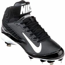 Nike Air Huarache Pro Mid Metal Baseball Cleat BLACK WHITE 615965-010 SZ 13