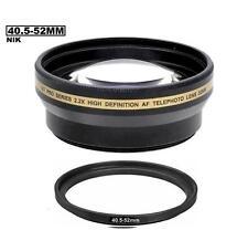 Xit 2.2x Telephoto Lens for Nikon 1 J1 J2 J3 1 V1 V2 10-30mm 30-110mm 10mm Lens