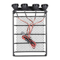 RC Car 1:10 Roof Rack Luggage & Light Bar for HPI CC01 AXIAL SCX10 RC4WD D90