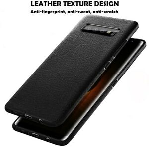 For Samsung Galaxy S20 S10 S9 S8 Plus Hybrid Leather Rubber Soft Slim Case Cover
