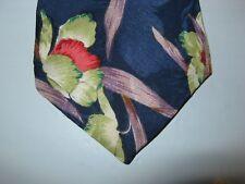 Je Suis SILK Tie Necktie 57 x 3.5 blue green orange floral 13931