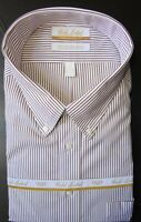 Roundtree Yorke Dress Shirt * White Striped (See Descrip) 20 - 36/37 TALL NWT