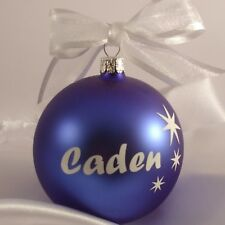 Personalized Christmas baubles Made in Europe in display box $18 top quality.