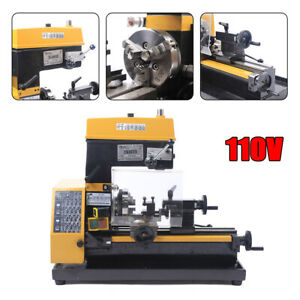 3-in-1 Mill/Drill Micro Lathe Milling and Drilling Machine 110V Multi-function