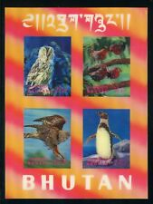 BHUTAN Bl.29 (**) 3D-BLOCK TIERE-VÖGEL ME 42,-++ !!! (113365)