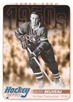 2011-12 Upper Deck Hockey Heroes 1950s #HH12 Jean Beliveau Montreal Canadiens