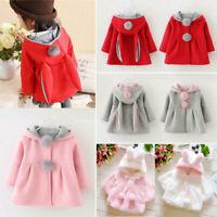 Hoodie Coat  Ear Bunny Rabbit Hoody Winter Baby Girl Kids Snowsuit