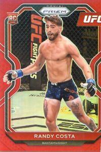 2021 PANINI PRIZM UFC RED #/275 ROOKIE RC RANDY COSTA NO. 89