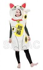 SAZAC Maneki-neko costume 2877 polyester Free Size for adults Japan Brand New