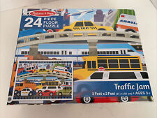 Melissa and Doug Traffic Jam 24-piece Floor Puzzle 3' x 2' Ages 3+ NEW!!!!!!!