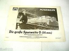 "Märklin Katalog Spur 0 1951 ""Die große Spurweite 0"""