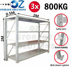 Longspan Shelving Warehouse Racking Garage Storage Shelves 2M x 6M x 0.5M