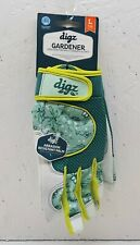 Digz Women's Large  Gloves Fabric & Leather Gardener Touchscreen Tips NEW