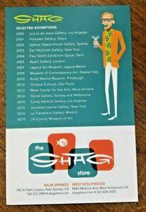 SHAG (Josh Agle) rare and collectible Bio/Exhibitions postcard 2020!