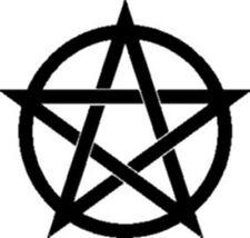 2 Aufkleber  Pentagramm, f.  Auto, Fenster Deko gothic