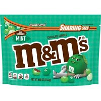 M&M'S MINT DARK CHOCOLATE CANDY SHARING SIZE 9.6oz BAG - PACK OF 3